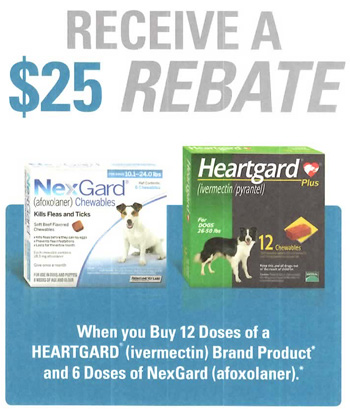 $25 rebate offered only by your Veterinarian